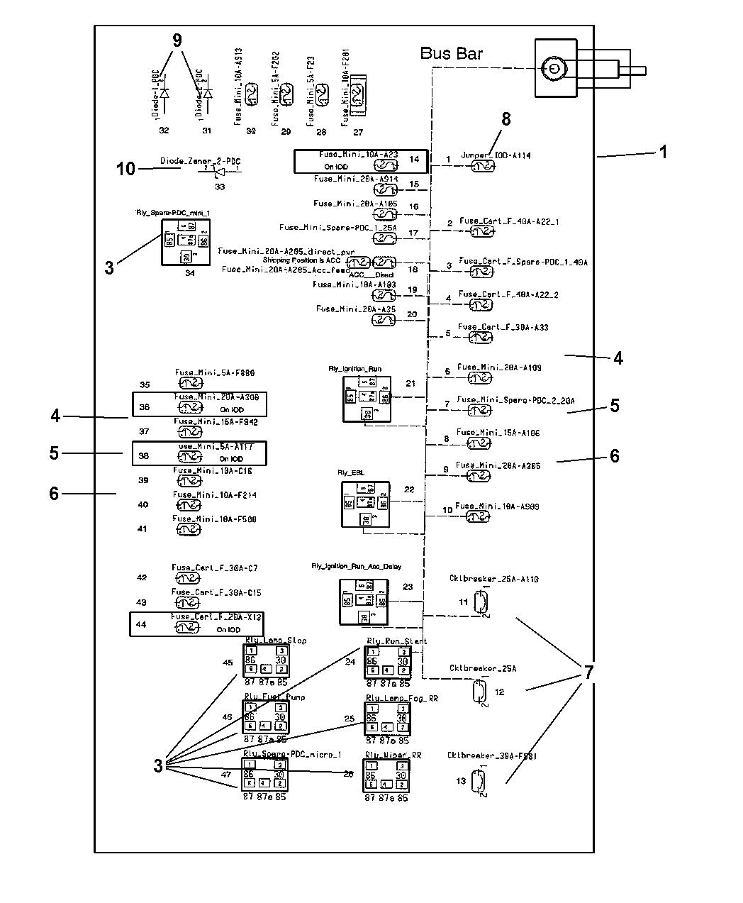 2005 chrysler 300 power distribution center relays \u0026 fuses trunk area2005 300c Fuse Diagram #16