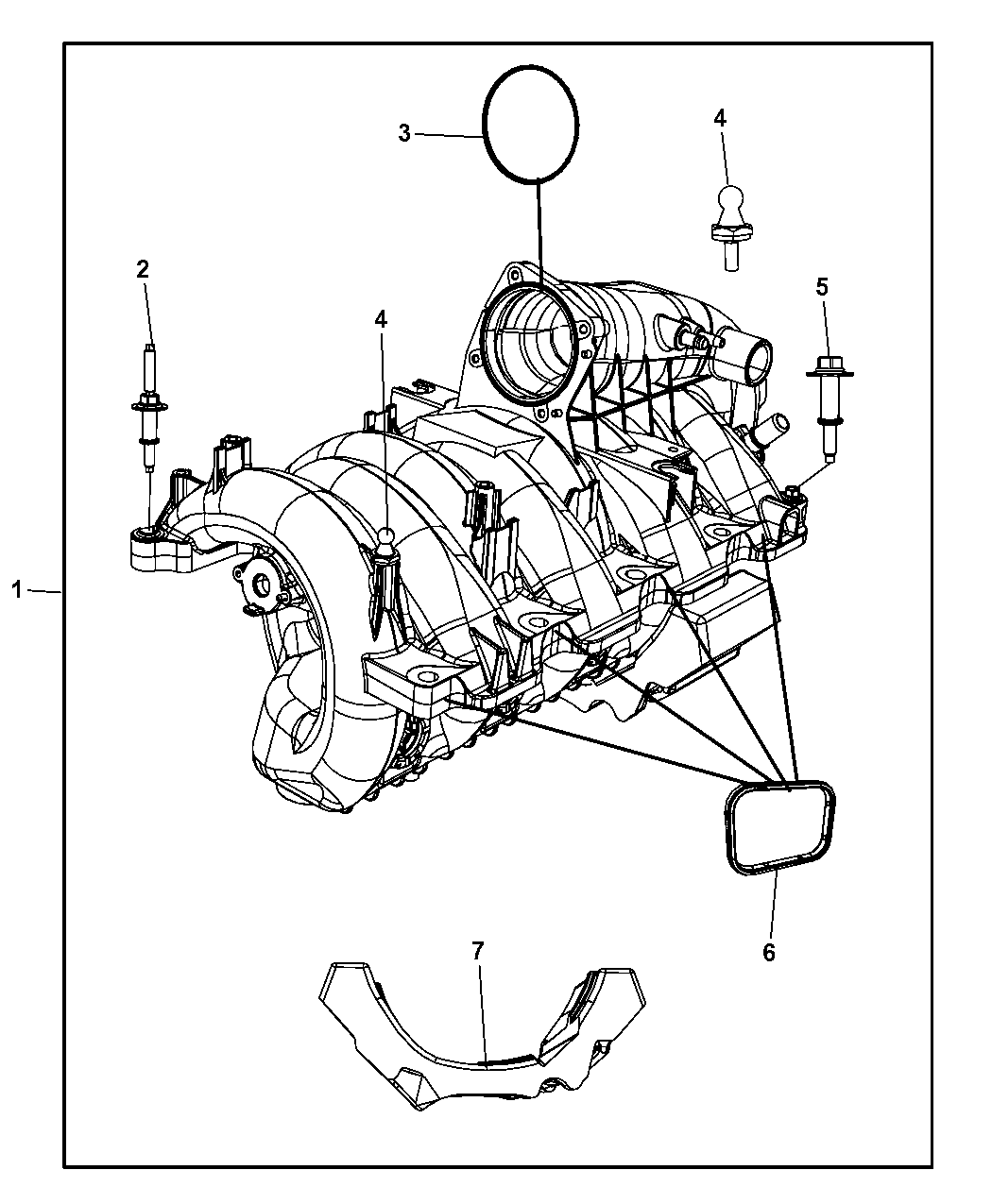 53034229AA - Genuine Mopar PLENUM-ENGINE INTAKE