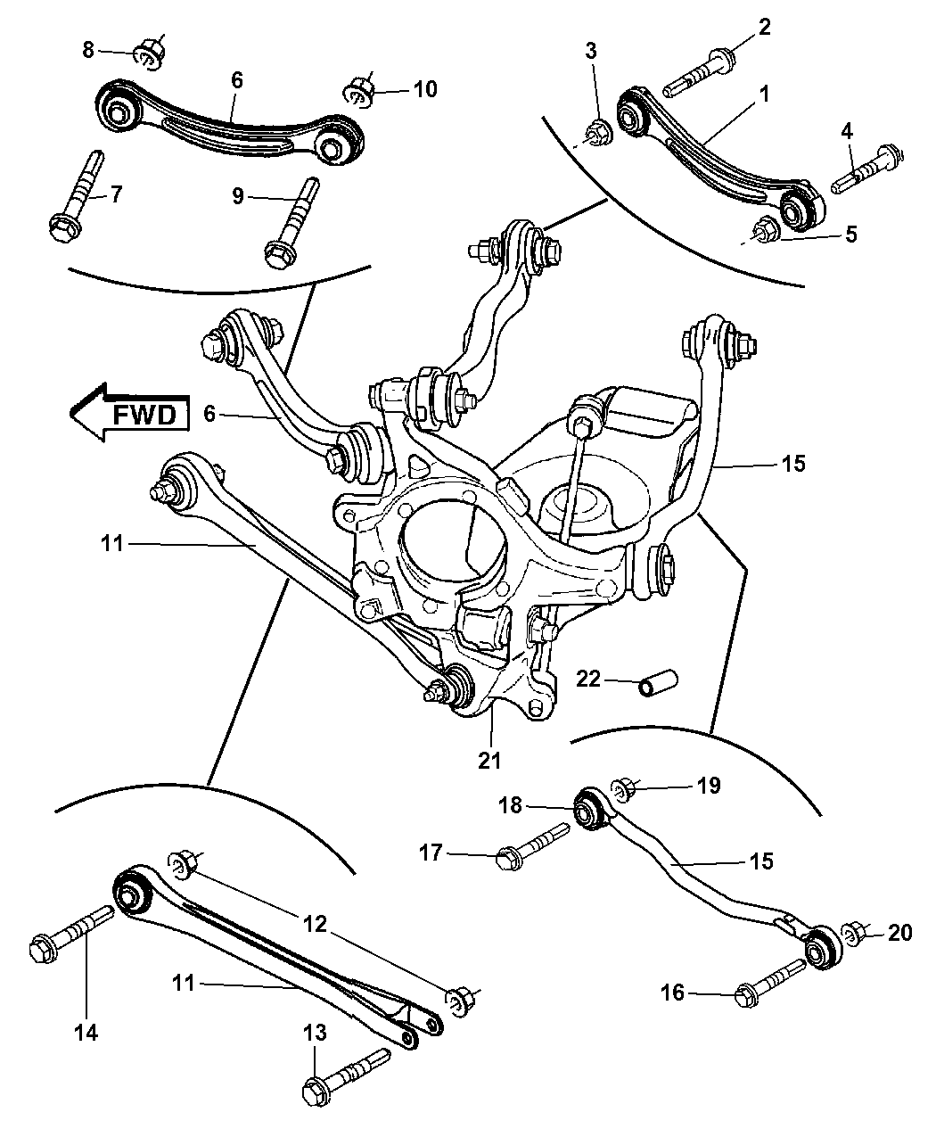 dodge charger rear suspension diagram