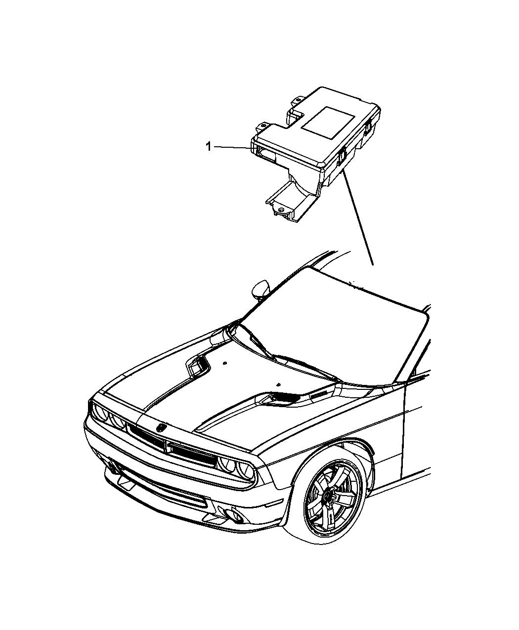 2010 Dodge Challenger Modules Overhead - Mopar Parts Giant