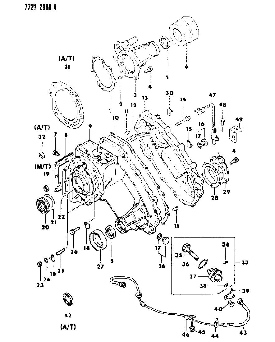 1988 Dodge Raider Case & Miscellaneous Parts of Manual