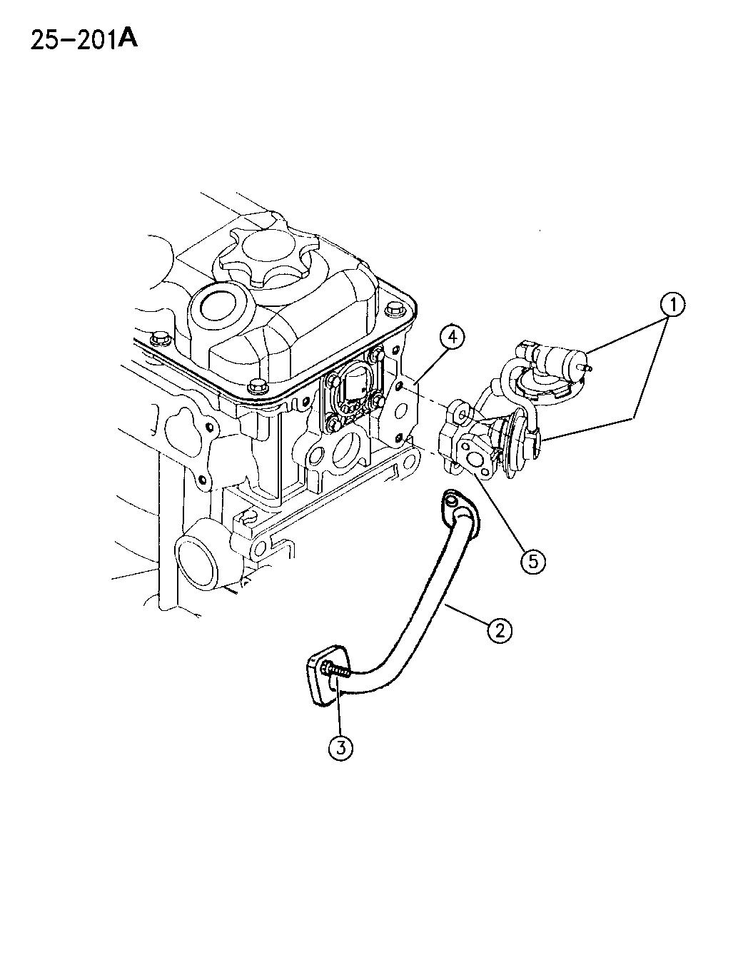 1996 Dodge Neon EGR System