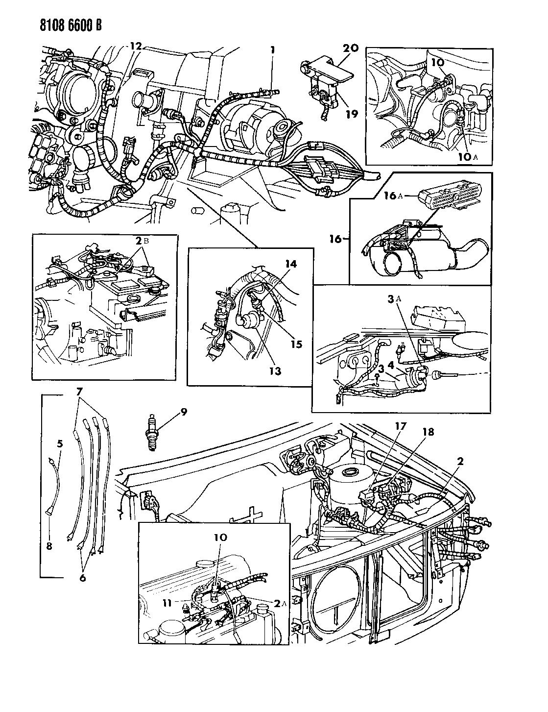 1988 dodge lancer wiring - engine