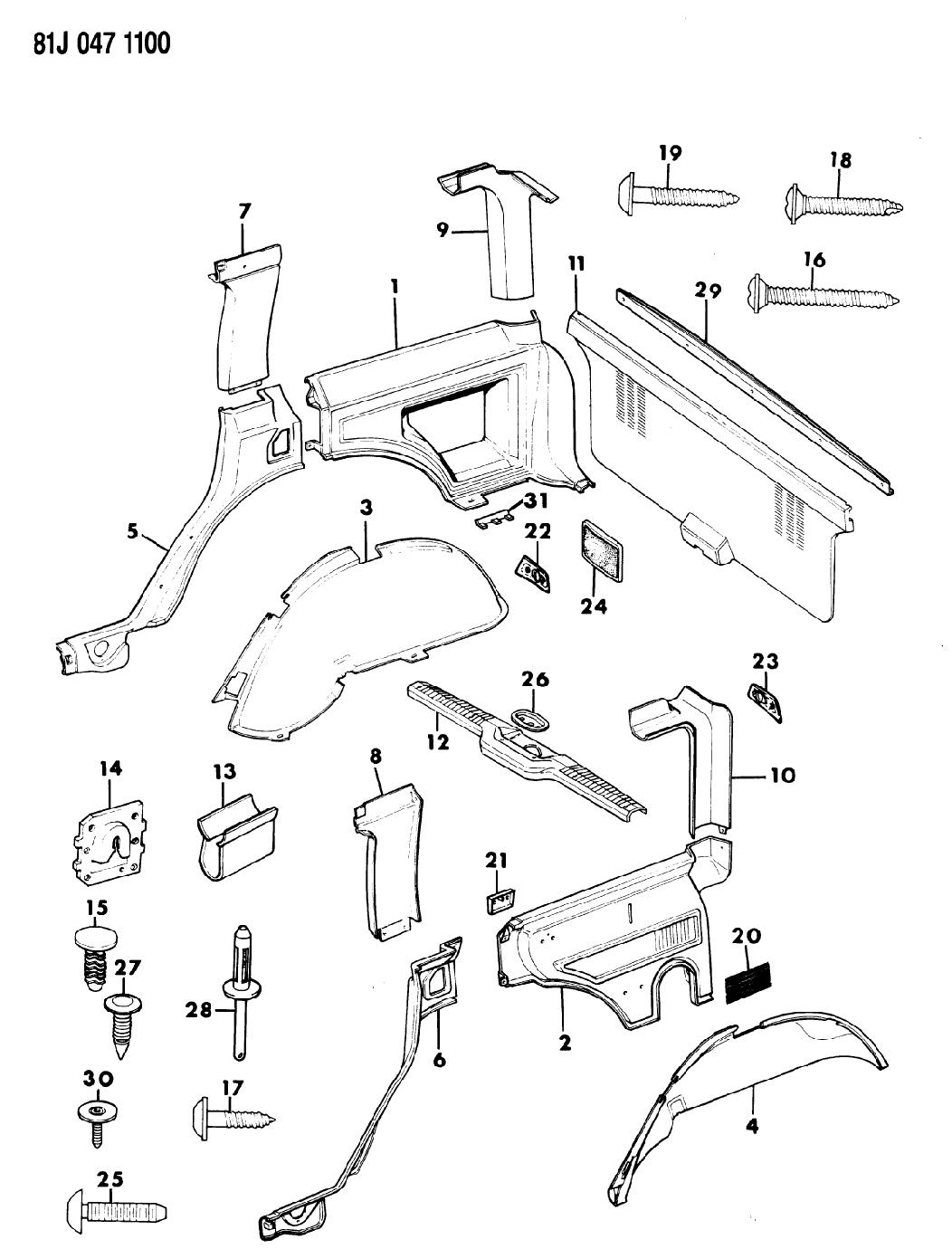 1985 Jeep Cherokee Panels