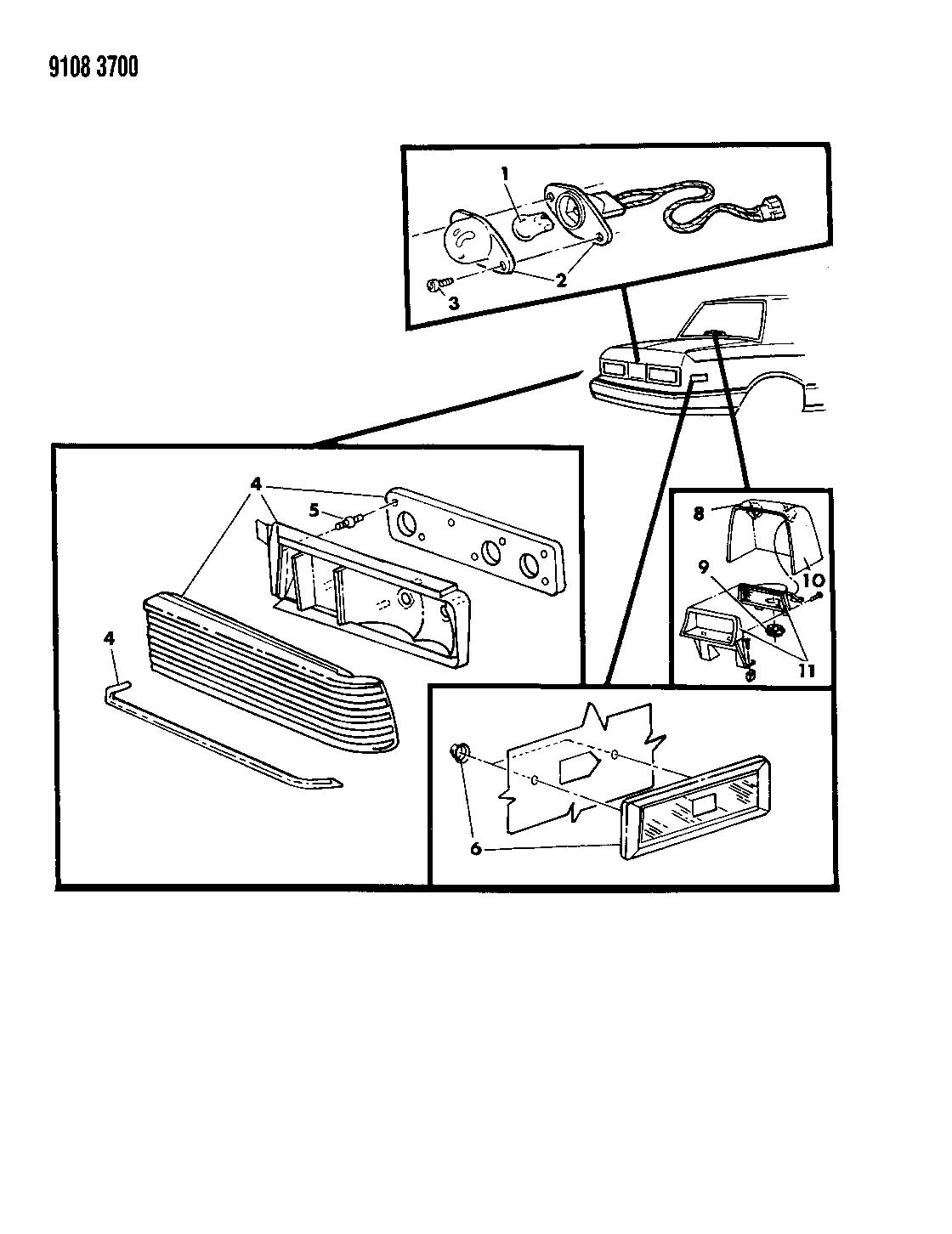 1989 Dodge Aries Lamps & Wiring - Rear - Mopar Parts Giant on amc amx wiring diagram, chrysler 300m wiring diagram, toyota truck wiring diagram, chevy astro wiring diagram, ford fairmont wiring diagram, chevy blazer wiring diagram, ford explorer sport wiring diagram, gmc van wiring diagram, geo metro wiring diagram, mazda b3000 wiring diagram, chevy suburban wiring diagram, ford aerostar wiring diagram, gmc motorhome wiring diagram, fiat 600 wiring diagram, plymouth voyager wiring diagram, pontiac fiero wiring diagram, chevy van wiring diagram, mercury zephyr wiring diagram, chrysler cirrus wiring diagram, buick park avenue wiring diagram,