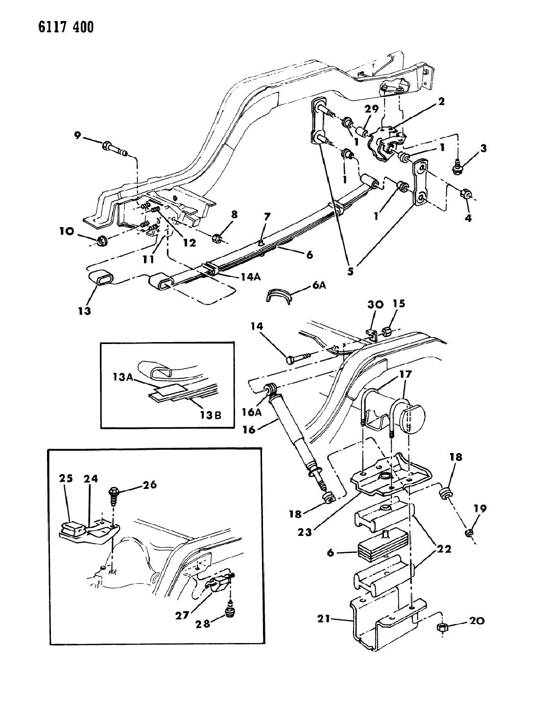 1986 Dodge Diplomat Suspension - Rear
