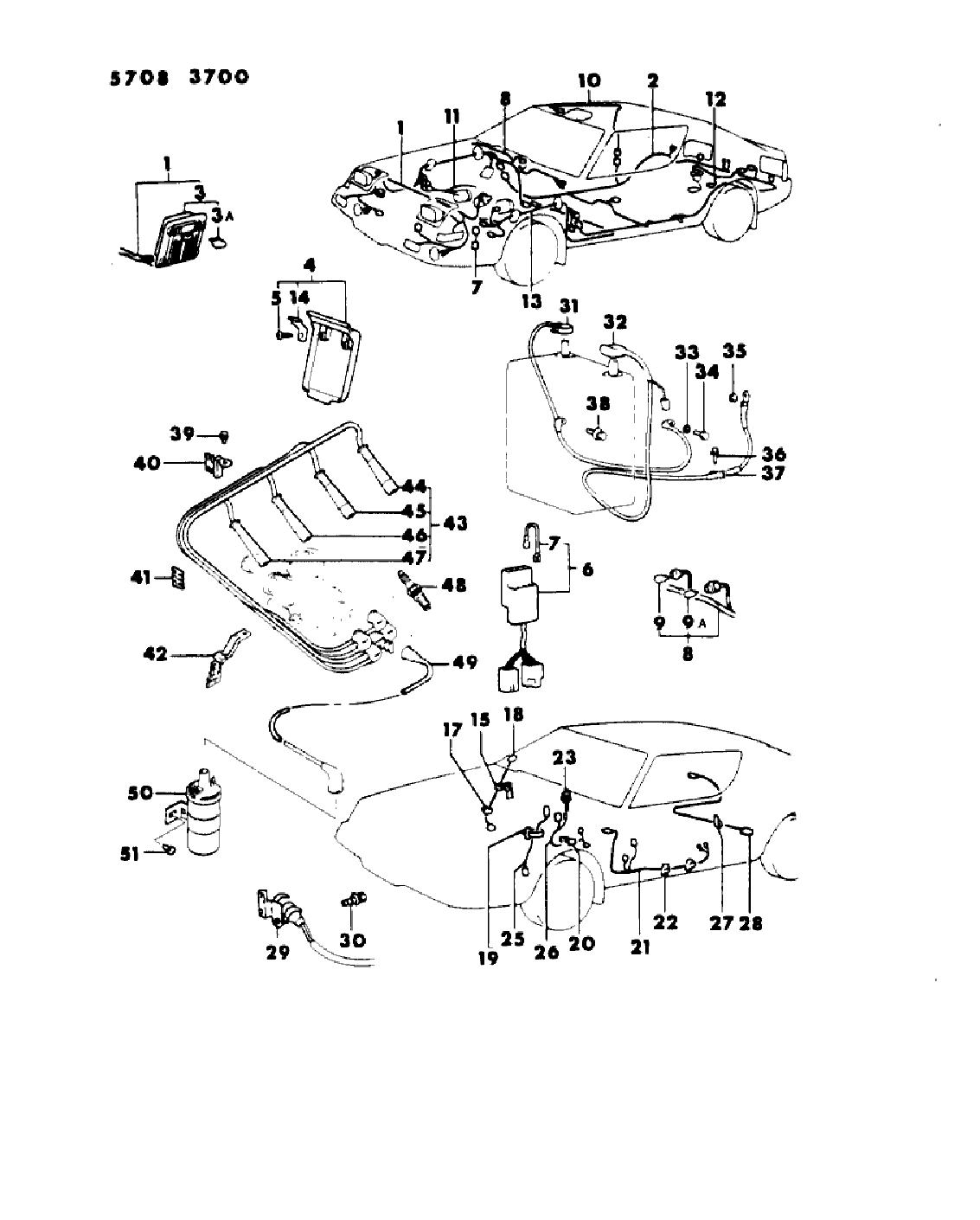 1986 chrysler conquest wiring harness