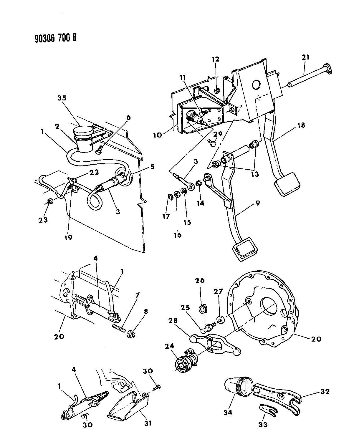 1992 Dodge W250 Controls  Hydraulic Clutch