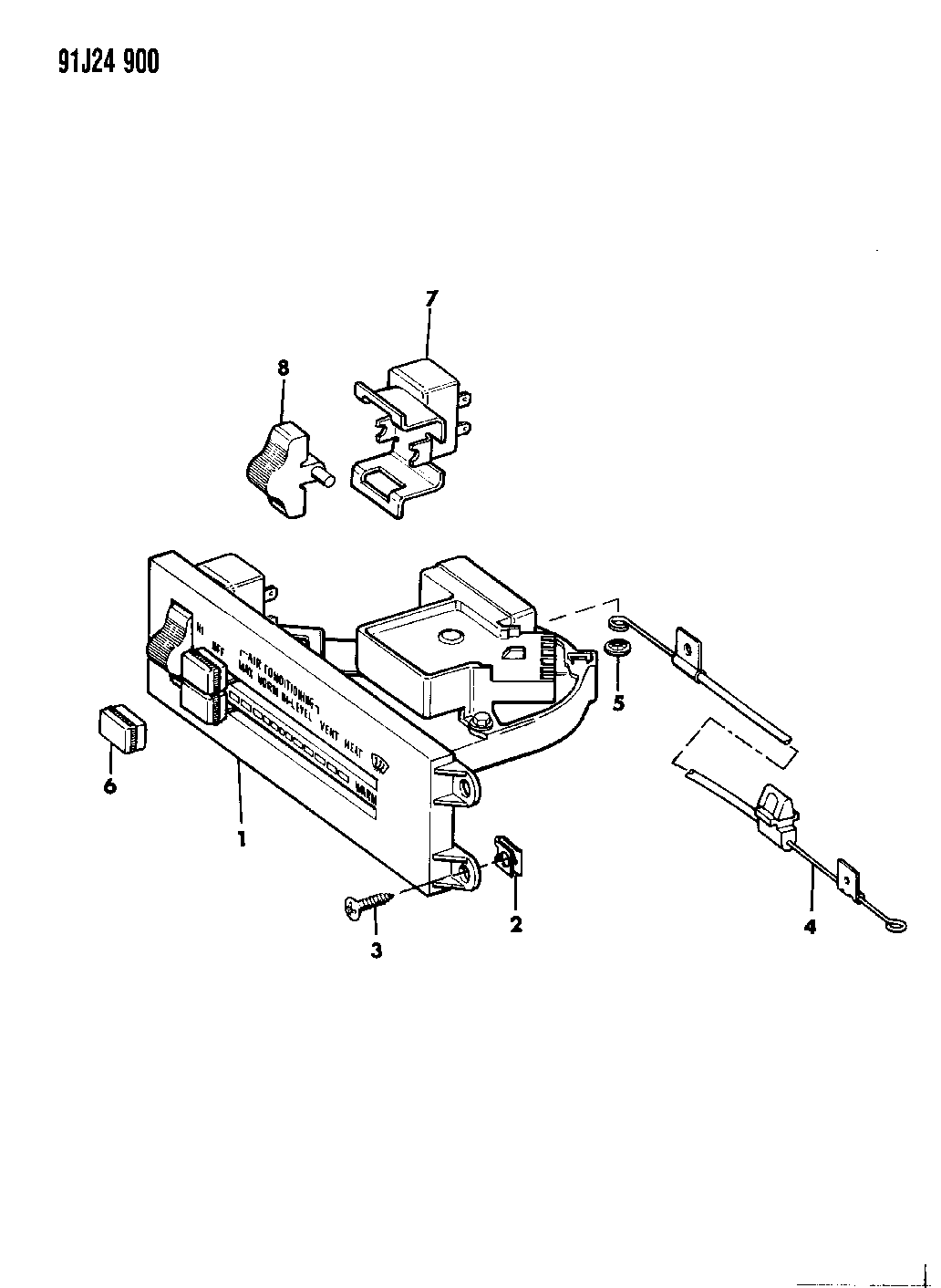 1992 Jeep Cherokee Controls, Heater And Air Conditioning