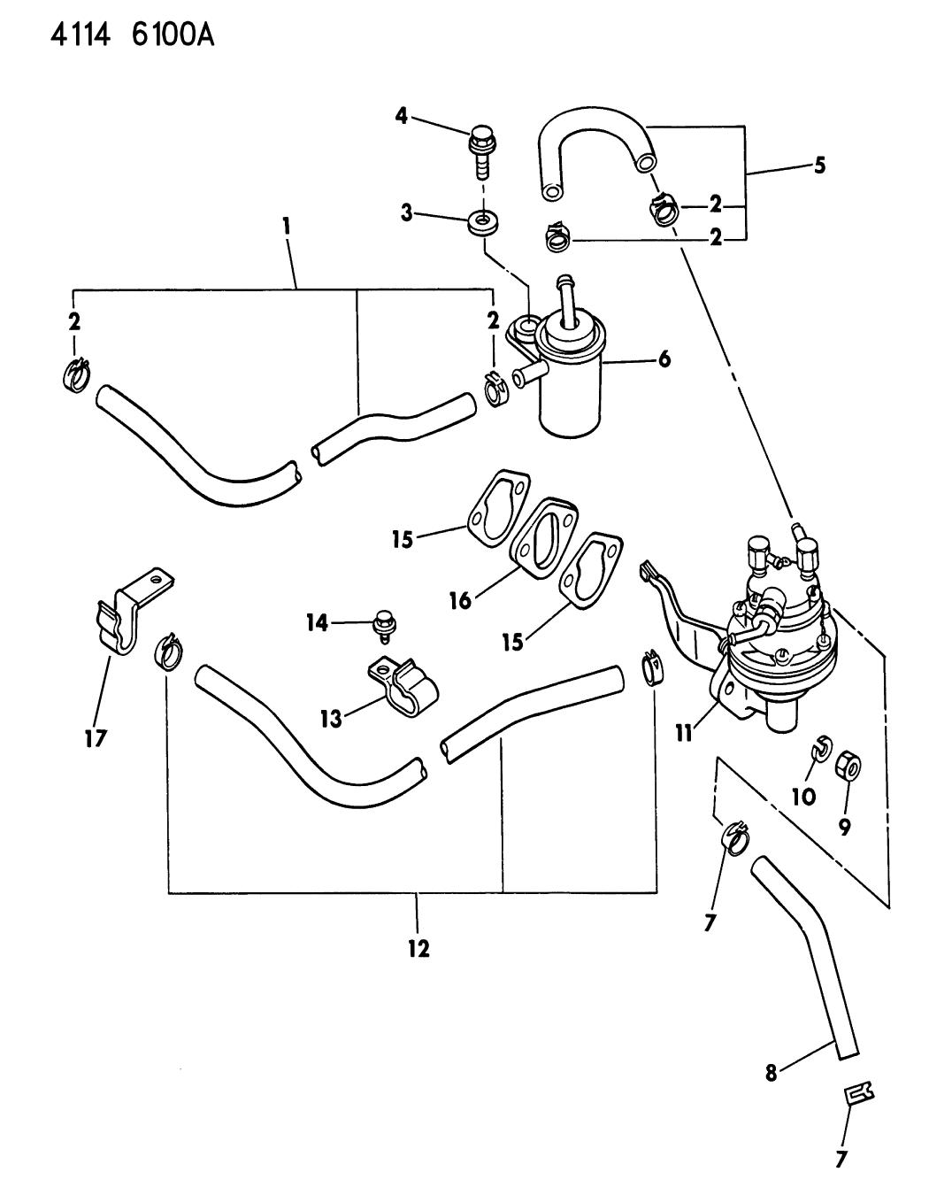4397736 Genuine Mopar Filter Fuel Purch Asm 1984 Chrysler Lebaron Pump