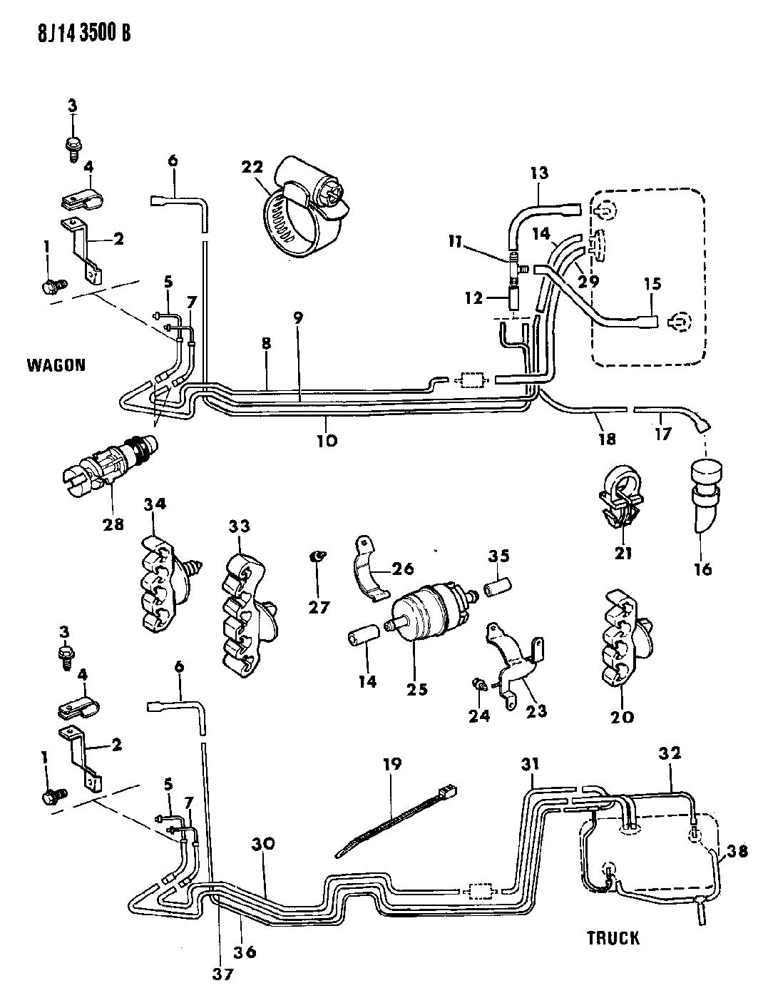 1989 jeep wrangler fuel line