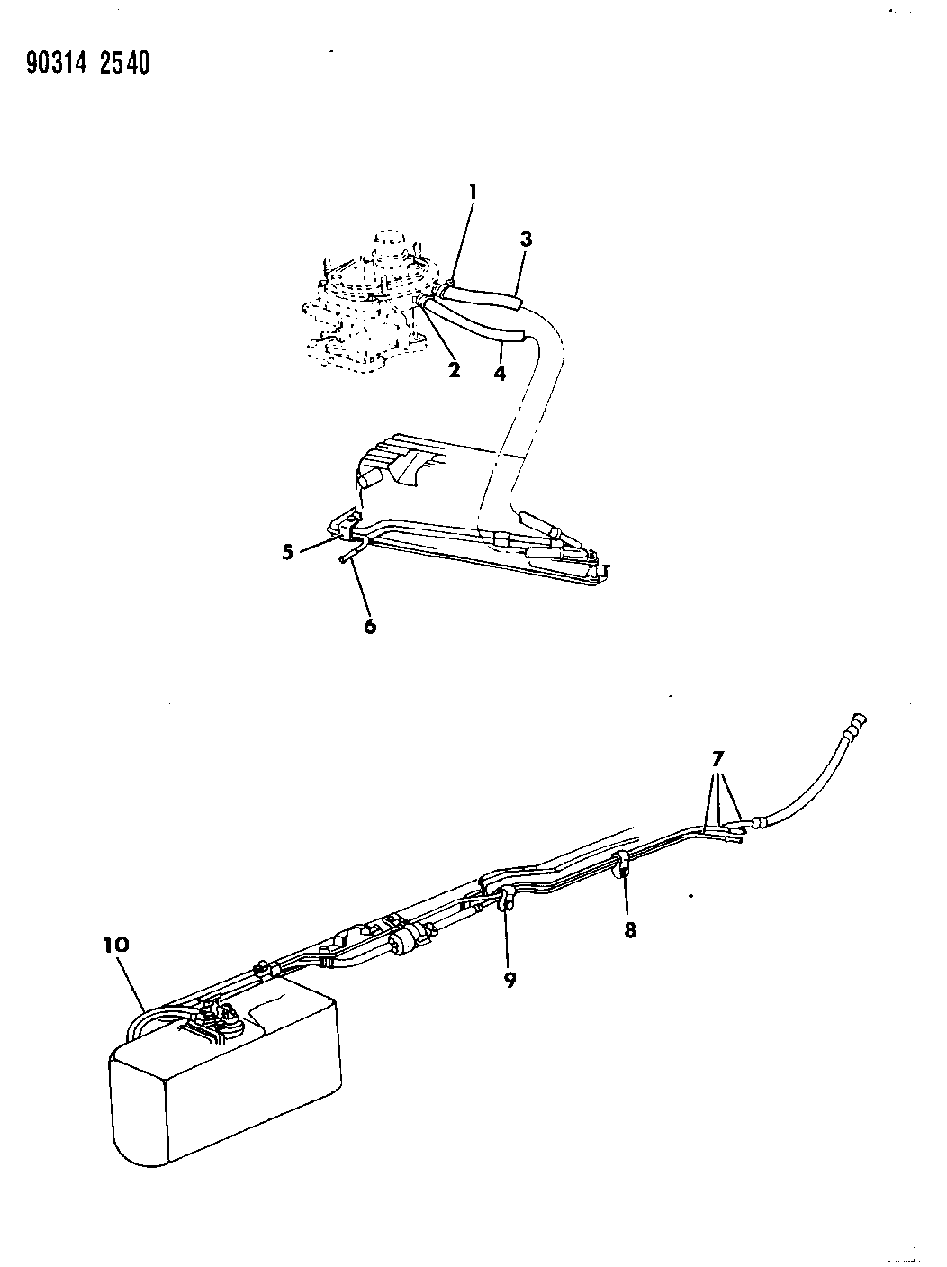 Ignition System Wiring Diagram 1992 Dodge Dakotum Fuel