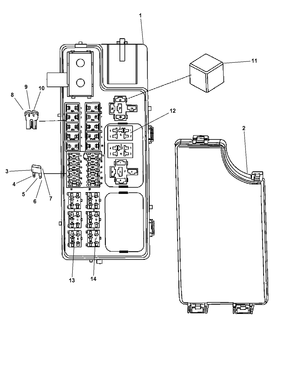 R4692343AD - Genuine Jeep BLOCK-TOTALLY INTEGRATED POWER