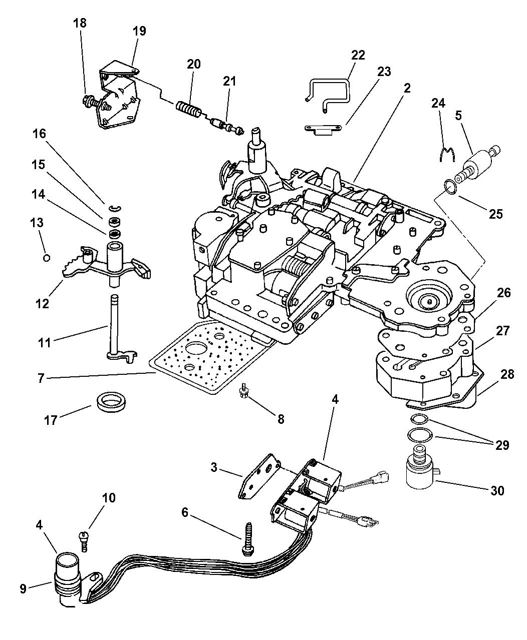 1997 jeep grand cherokee valve body - thumbnail 1