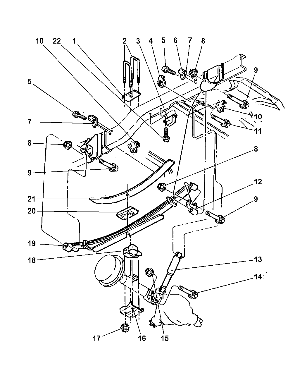 1998 Dodge Ram 2500 Suspencing Parts Diagram • Wiring