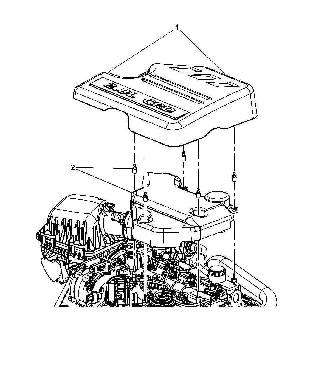 2009 Dodge Grand Caravan Engine Cover Related Parts Diagram Thumbnail 2