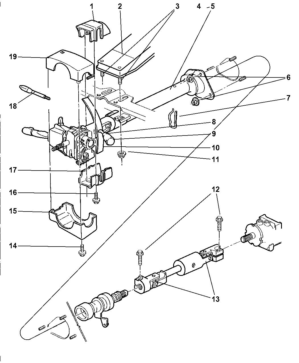 1999 dodge ram 2500 quad  u0026 club cab column  steering