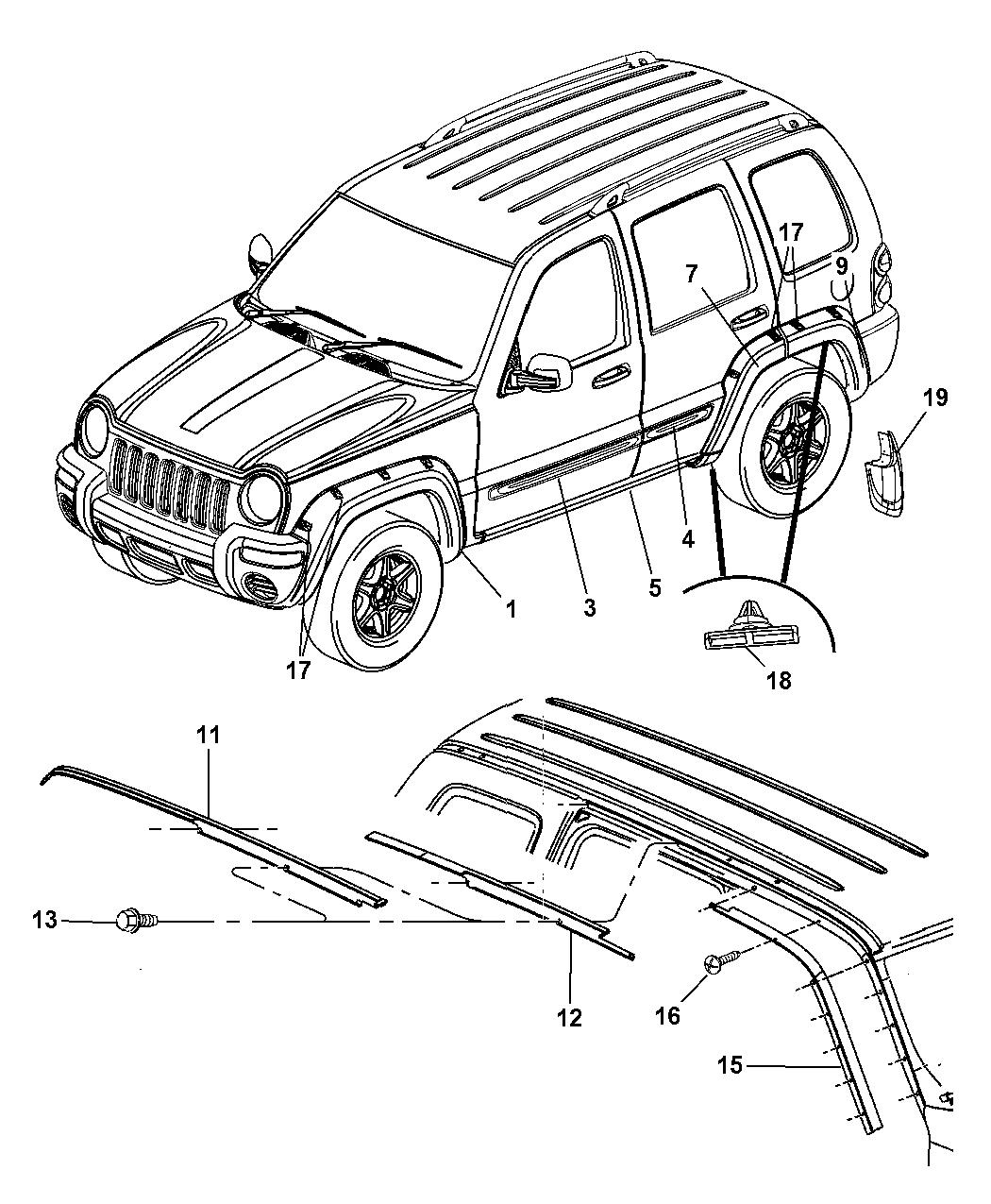 Genuine Chrysler 5JR86BDLAA Door Applique