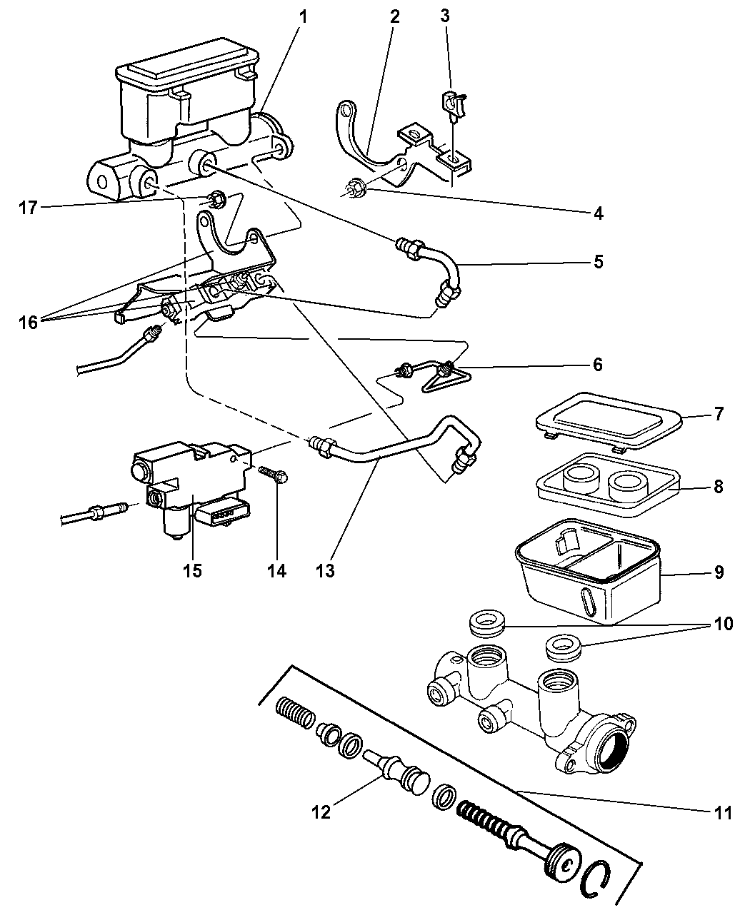 1996 dodge dakota brake diagram