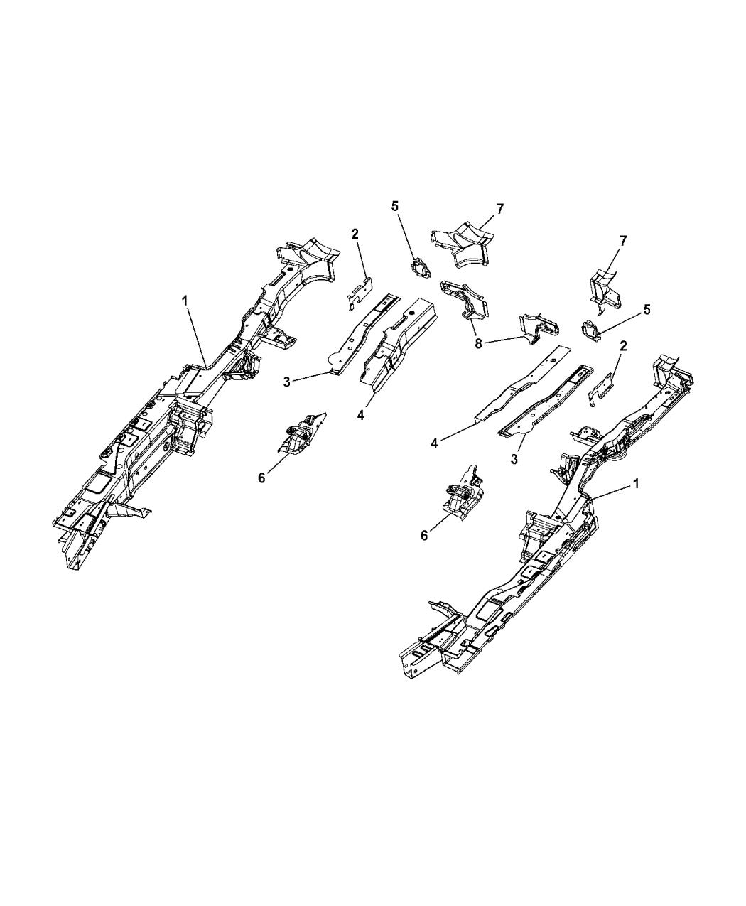 2017 Chrysler Pacifica Frame  Rear