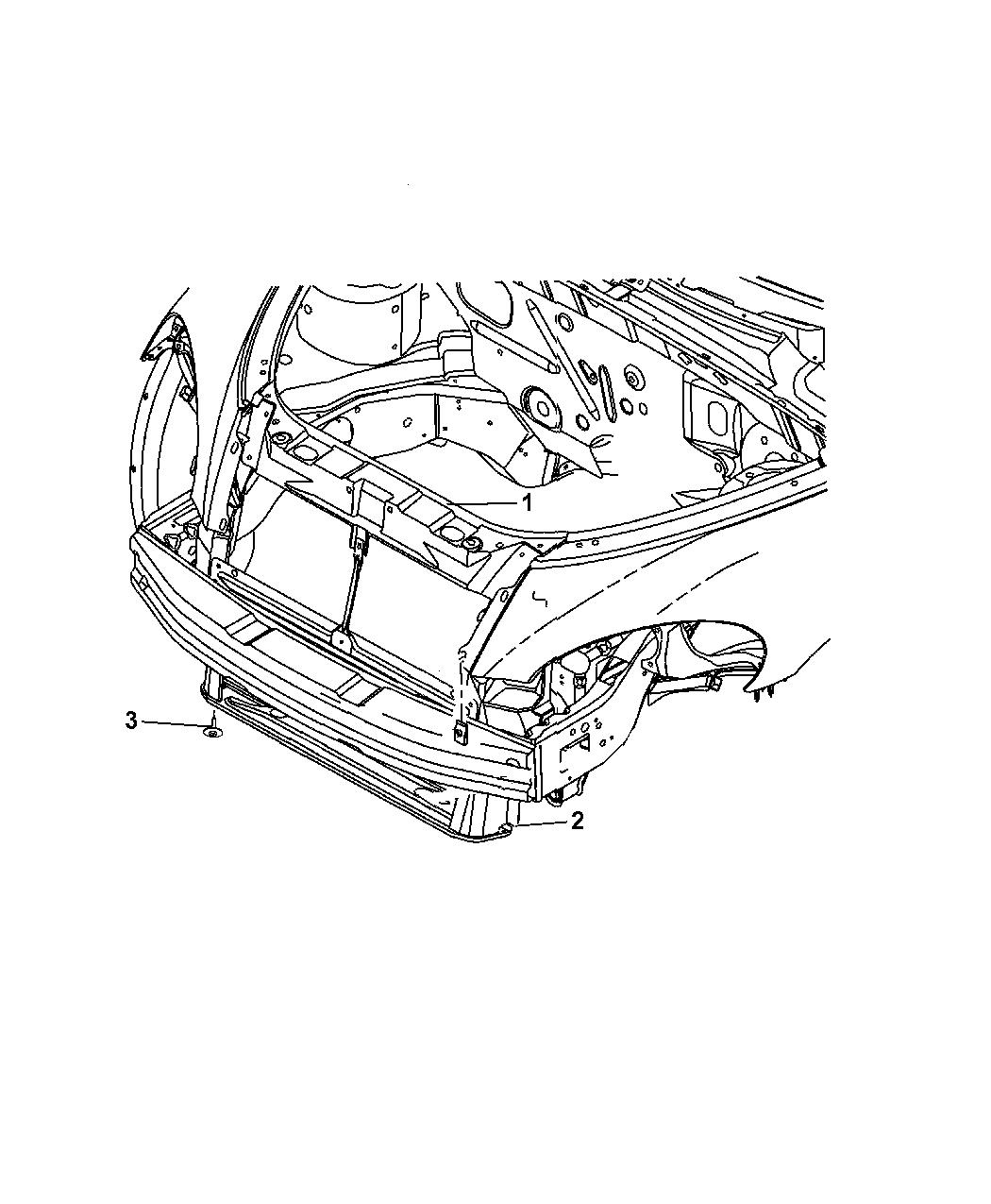 2005 Chrysler Pt Cruiser Radiator Support
