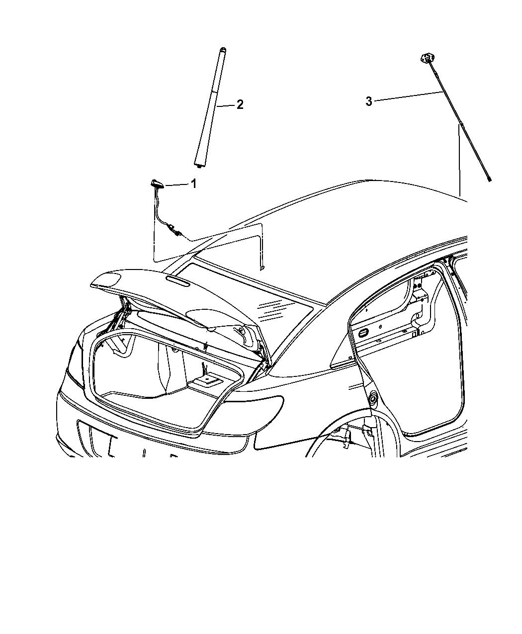 2010 Chrysler Sebring Antenna