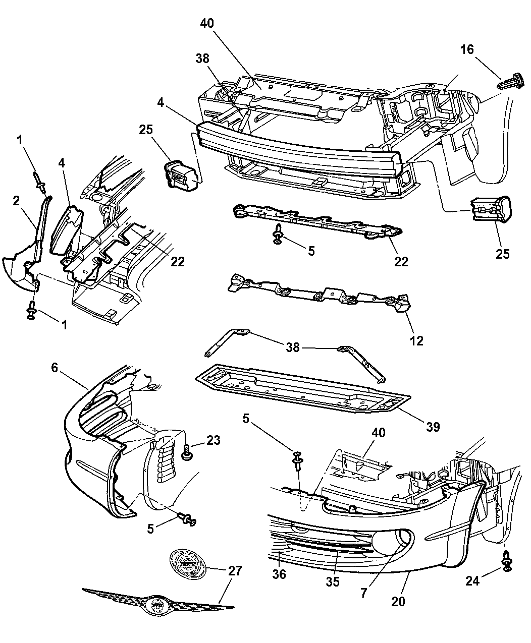 2004 Chrysler Concorde Fascia  Front