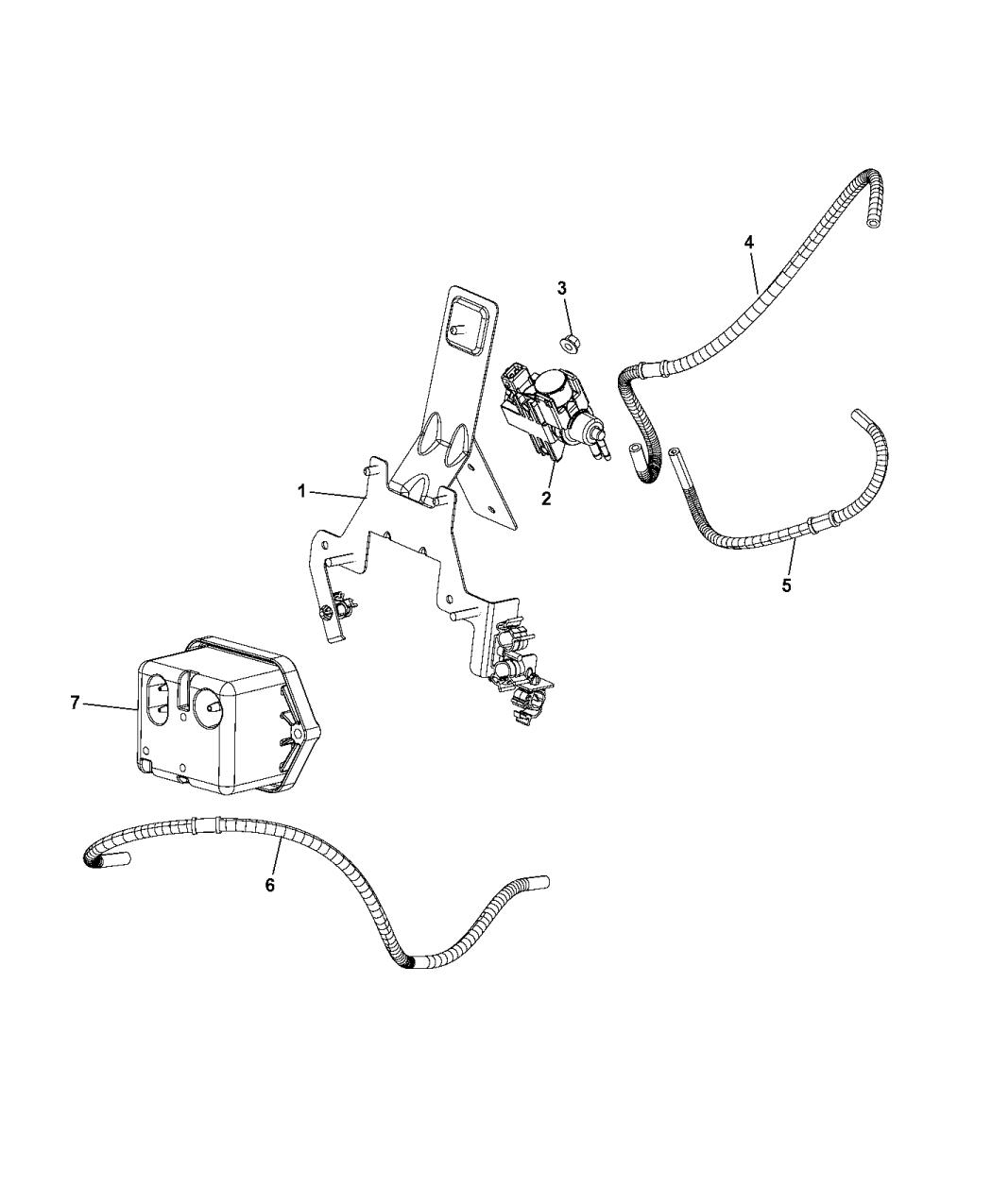 2014 Ram ProMaster 1500 Vacuum Pump Vacuum Harness