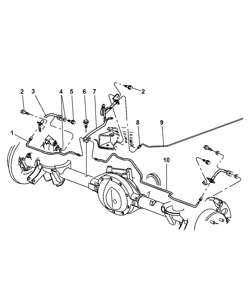 Jeep Cherokee Brake Line Kit