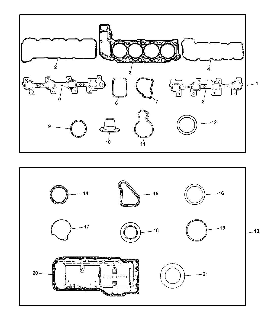 Genuine Chrysler 53020865 Water Pump Gasket