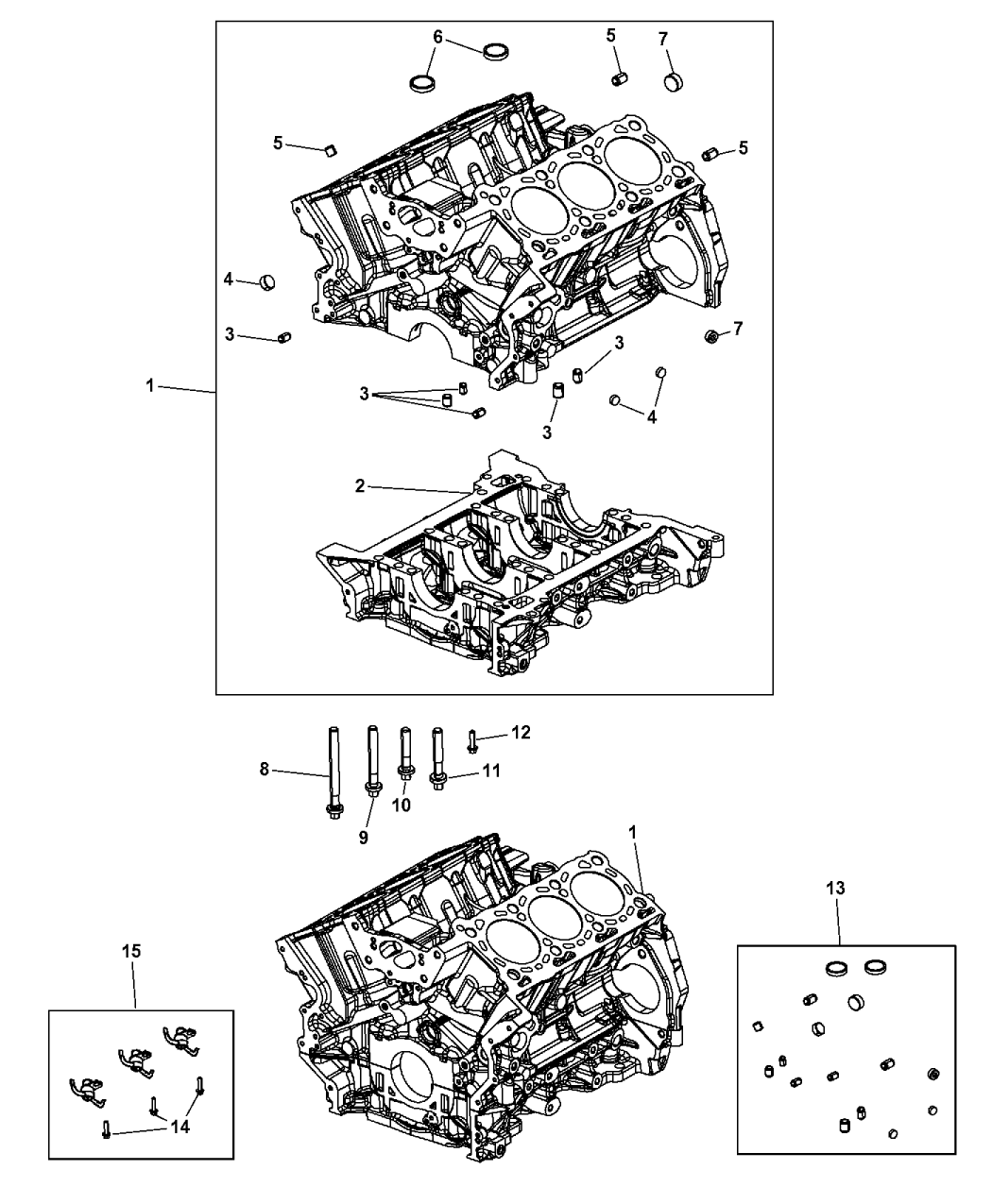 2014 jeep grand cherokee engine cylinder block and hardware