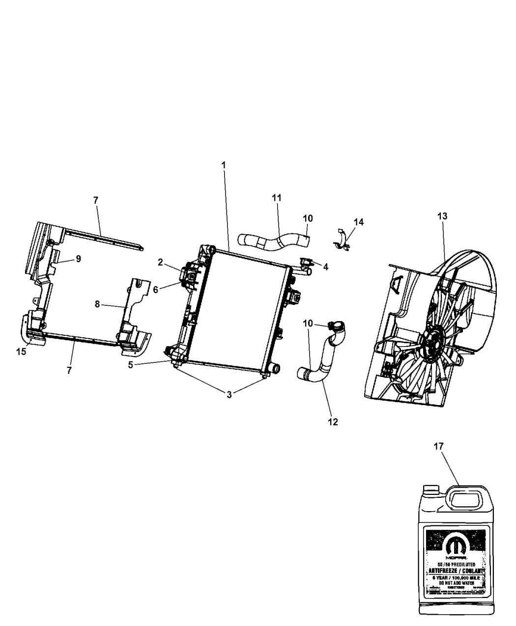 Genuine Mopar HOSE-RADIATOR OUTLET