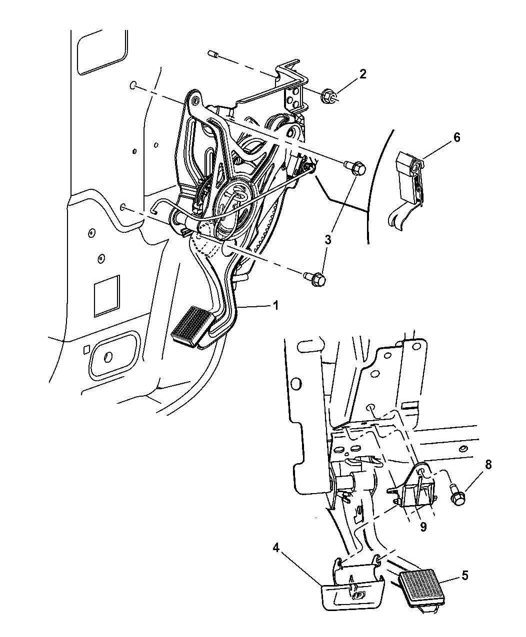 2006 Chrysler Pacifica Lever Parking Brake Mopar Parts Giant Engine Diagram