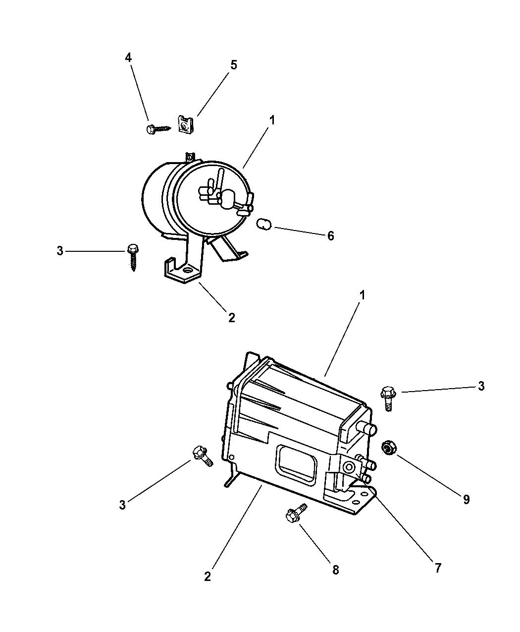1999 Jeep Wrangler Vacuum Canister Mopar Parts Giant