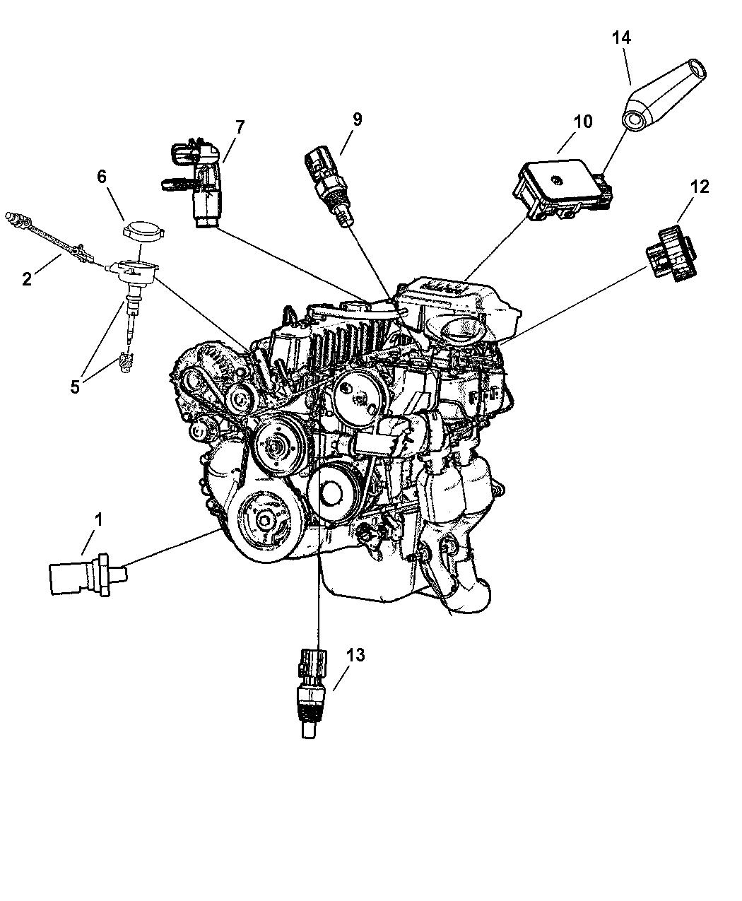 2005 Jeep Wrangler Sensors - Engine - Mopar Parts Giant