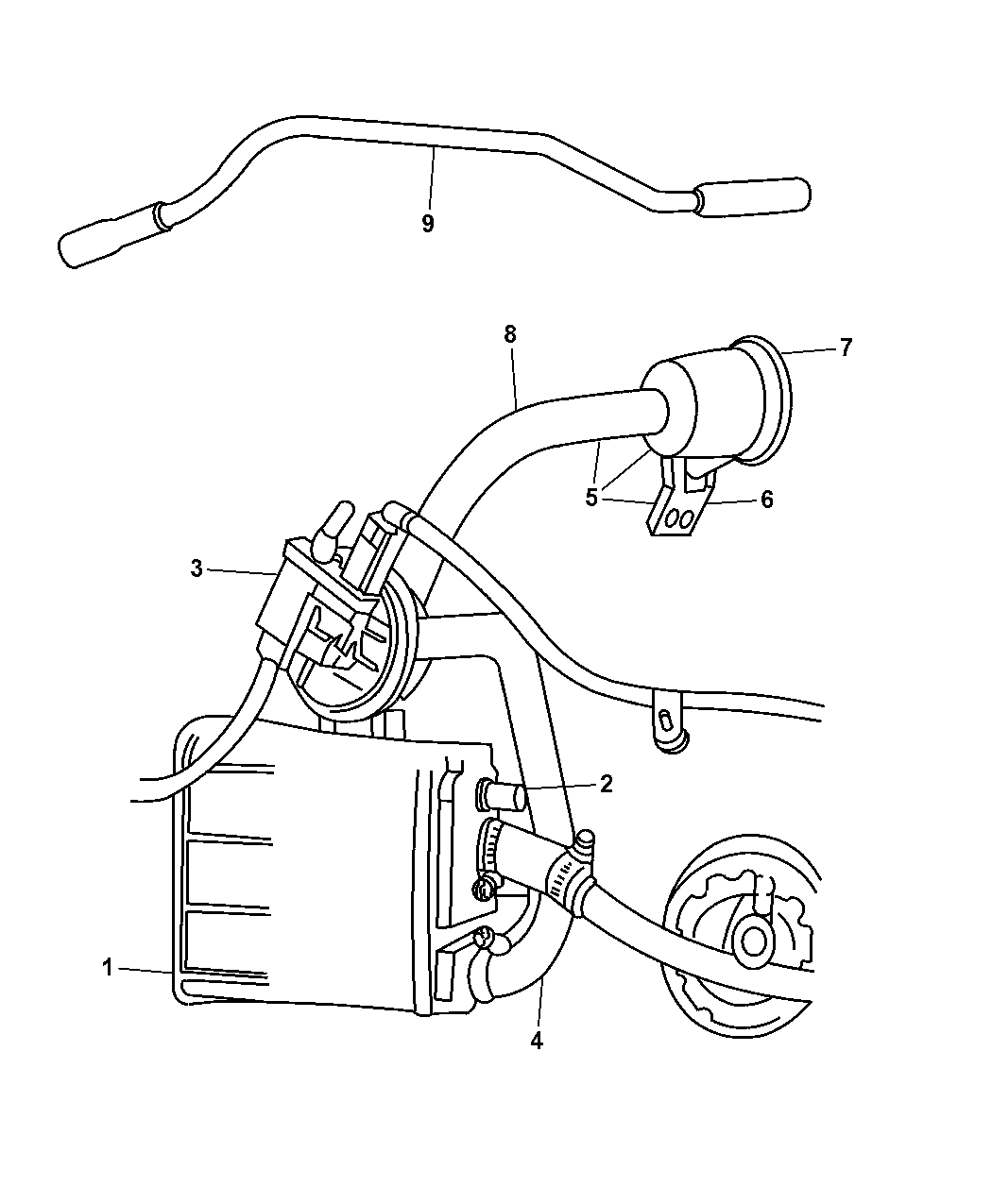 2001 Dodge Stratus Sedan Vacuum Canister & Leak Detection Pump