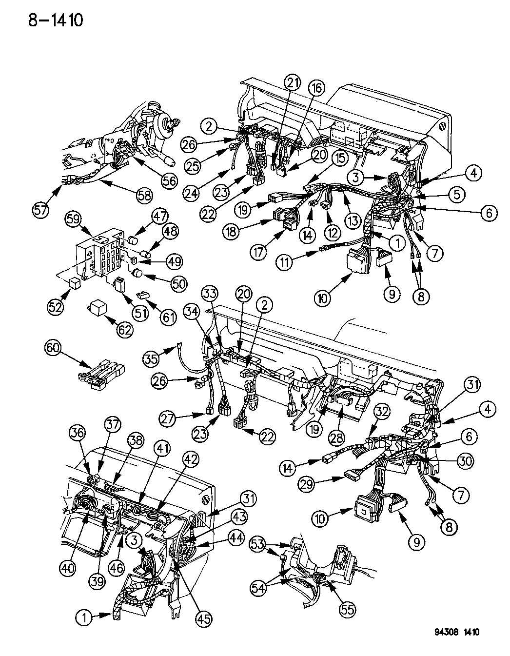 1996 Dodge Dakota Wiring - Instrument Panel