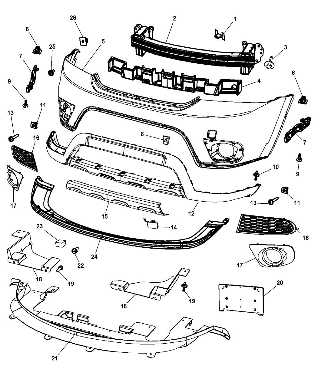5178285AB  Genuine Dodge BEZELFOG LAMP