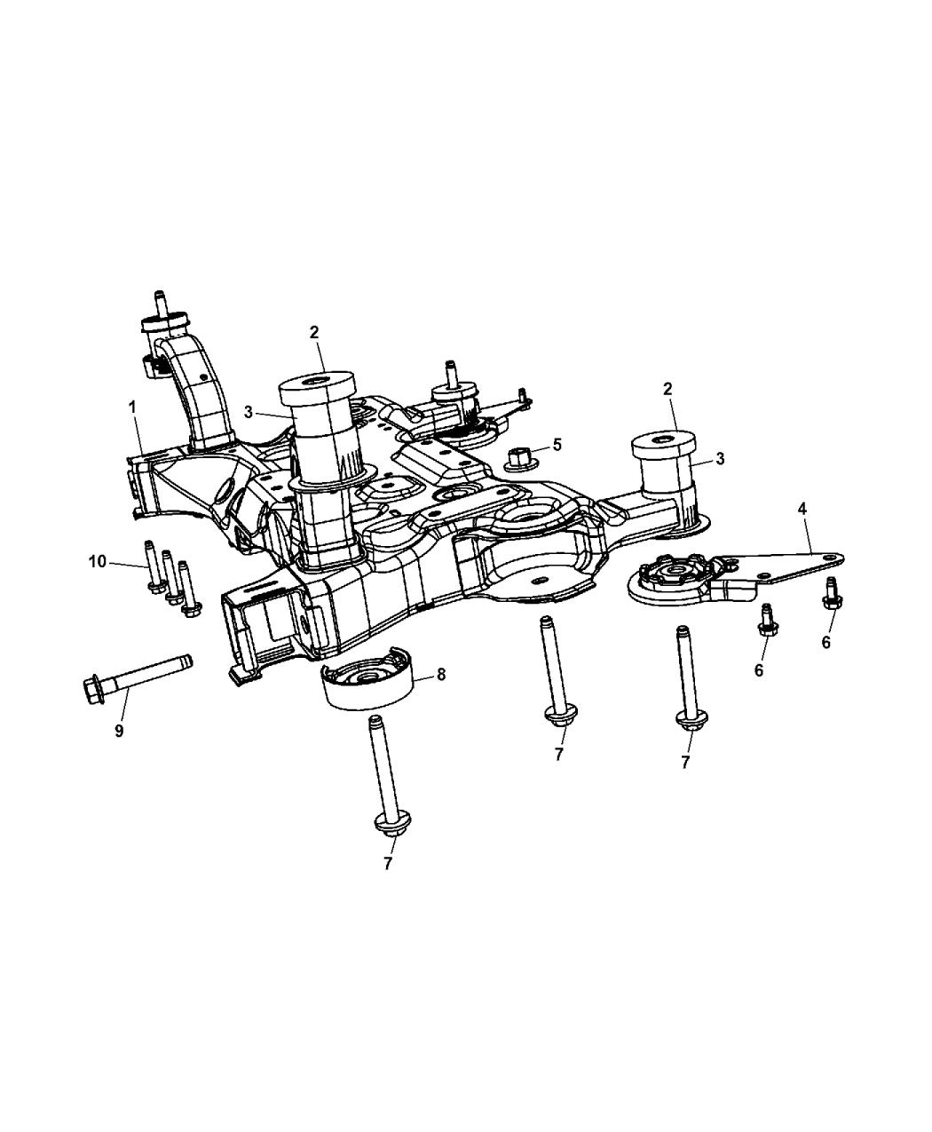 2014 Chrysler 200 Crossmember Front Suspension Fuse Box Diagram2014