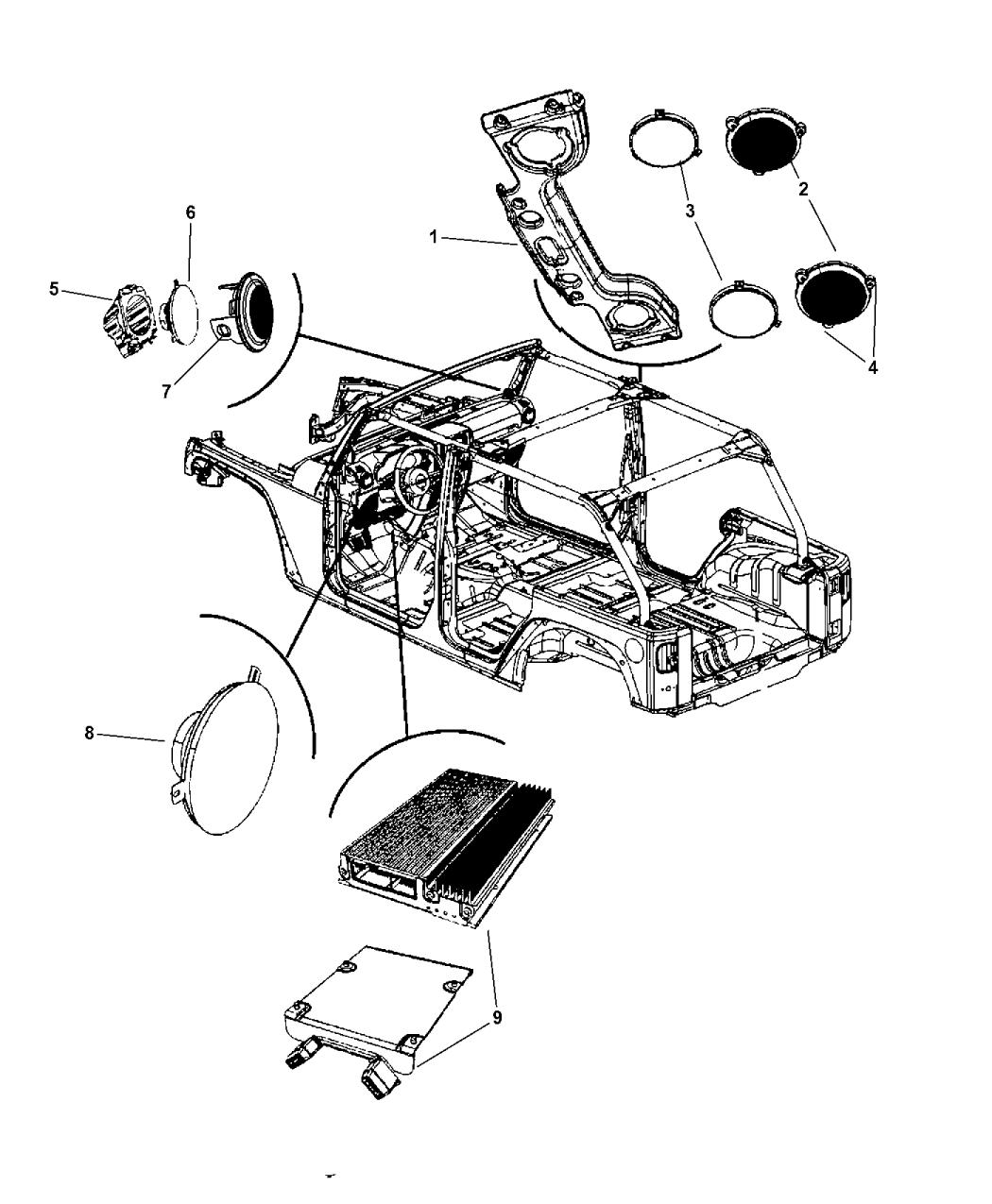2011 Jeep Wrangler Speakers Mopar Parts Giant Engine Diagram