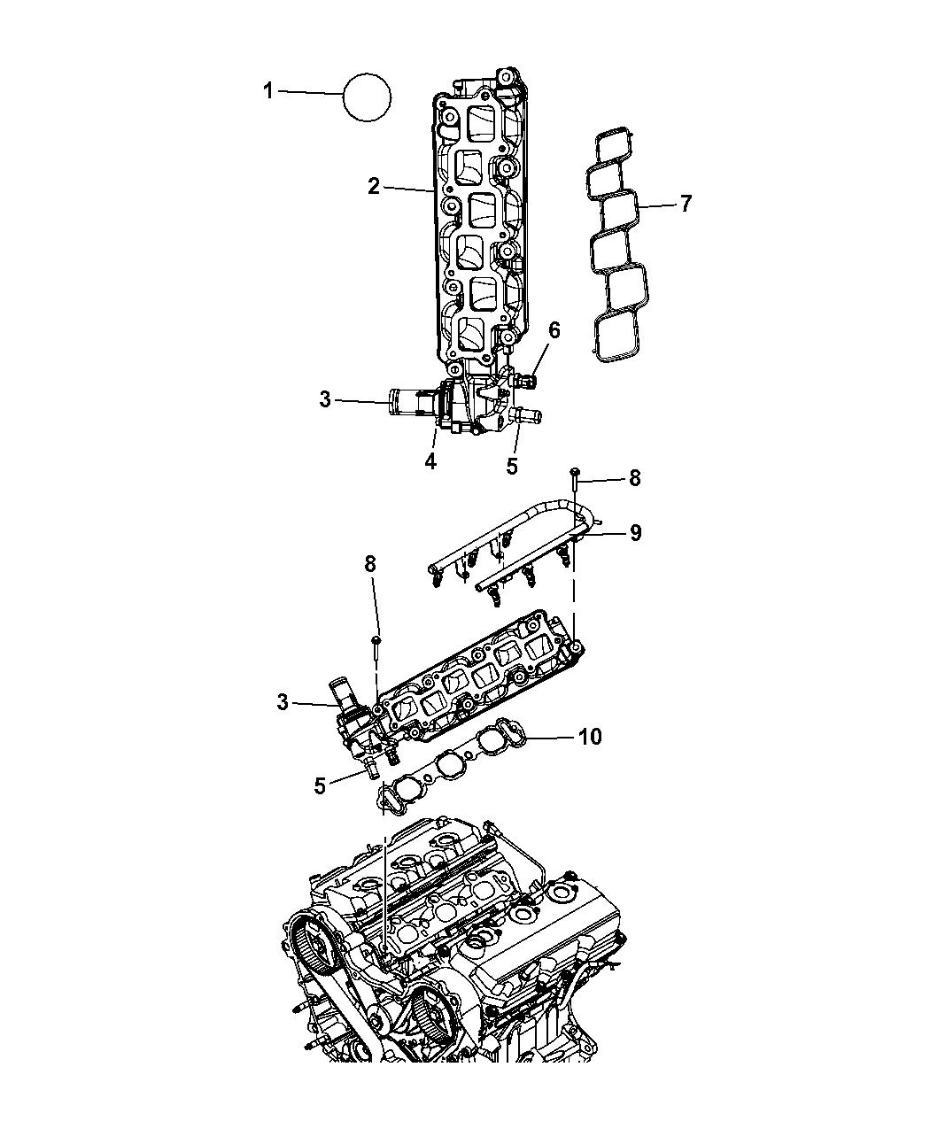 2007 Dodge Nitro Intake Manifold & Mounting - Thumbnail 2