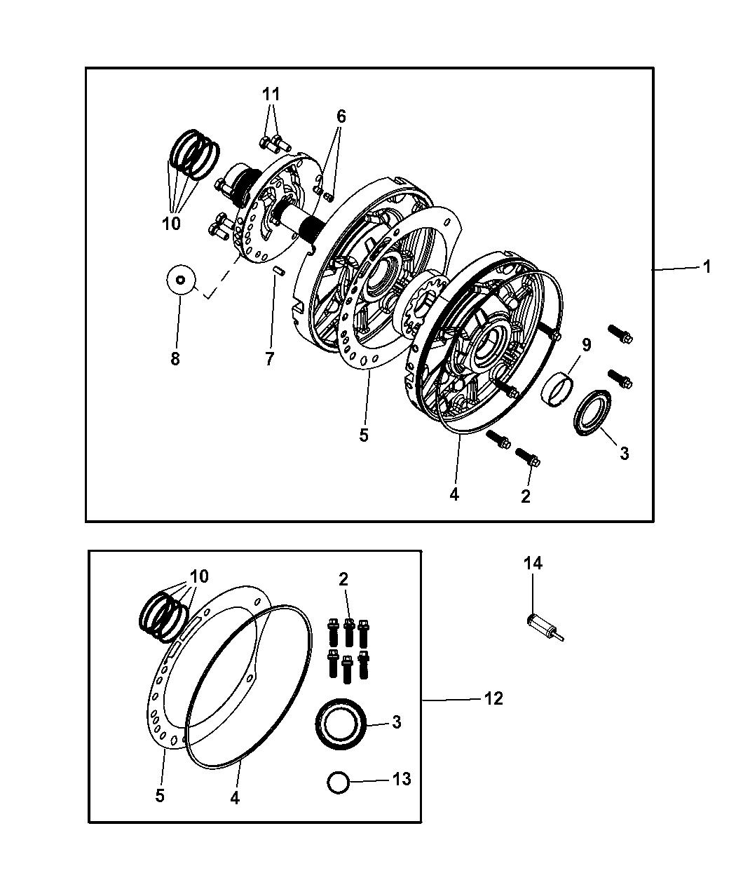 4883260AB - Genuine Mopar GASKET PKG-TRANSMISSION OIL PUMP