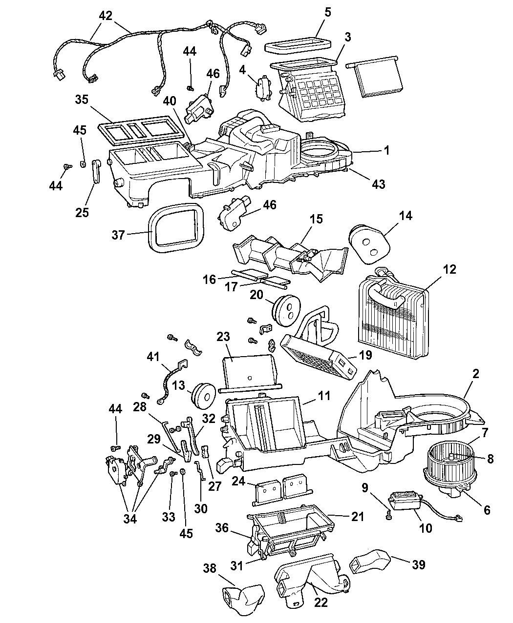 2001 jeep grand cherokee hevac with auto temp control 2001 jeep heater control diagram