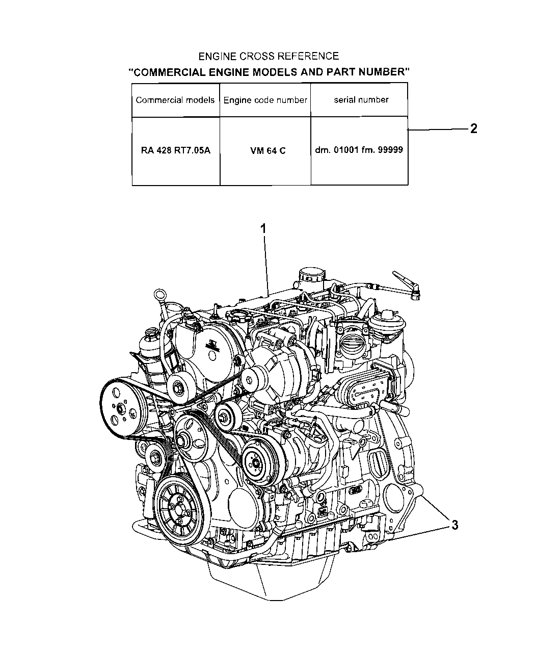 2008 Jeep Liberty Engine Assembly Identification Diagram Thumbnail 2