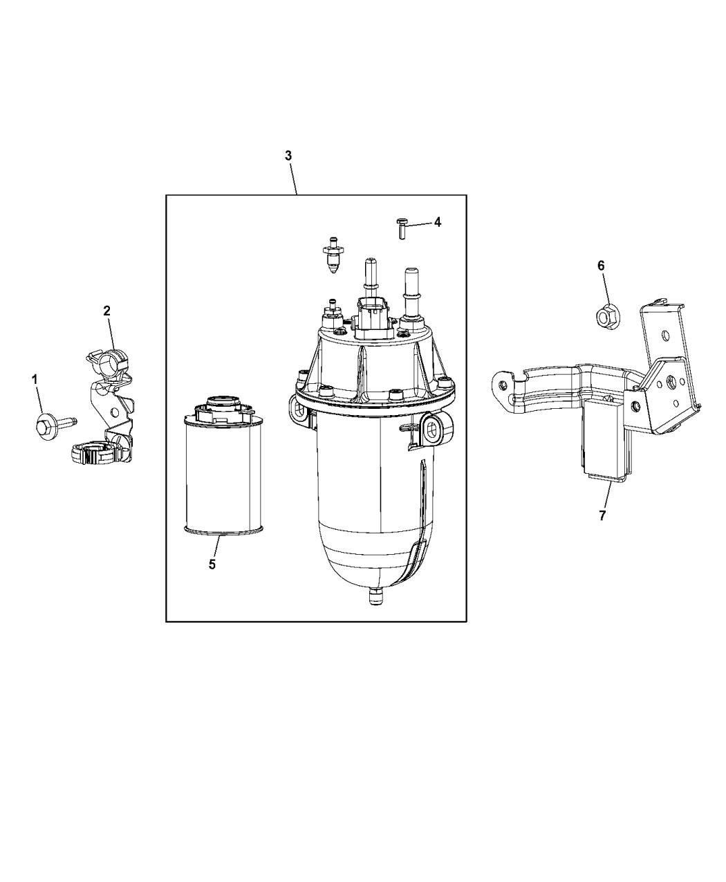 2014 Ram ProMaster 1500 Fuel Filter & Water Separator