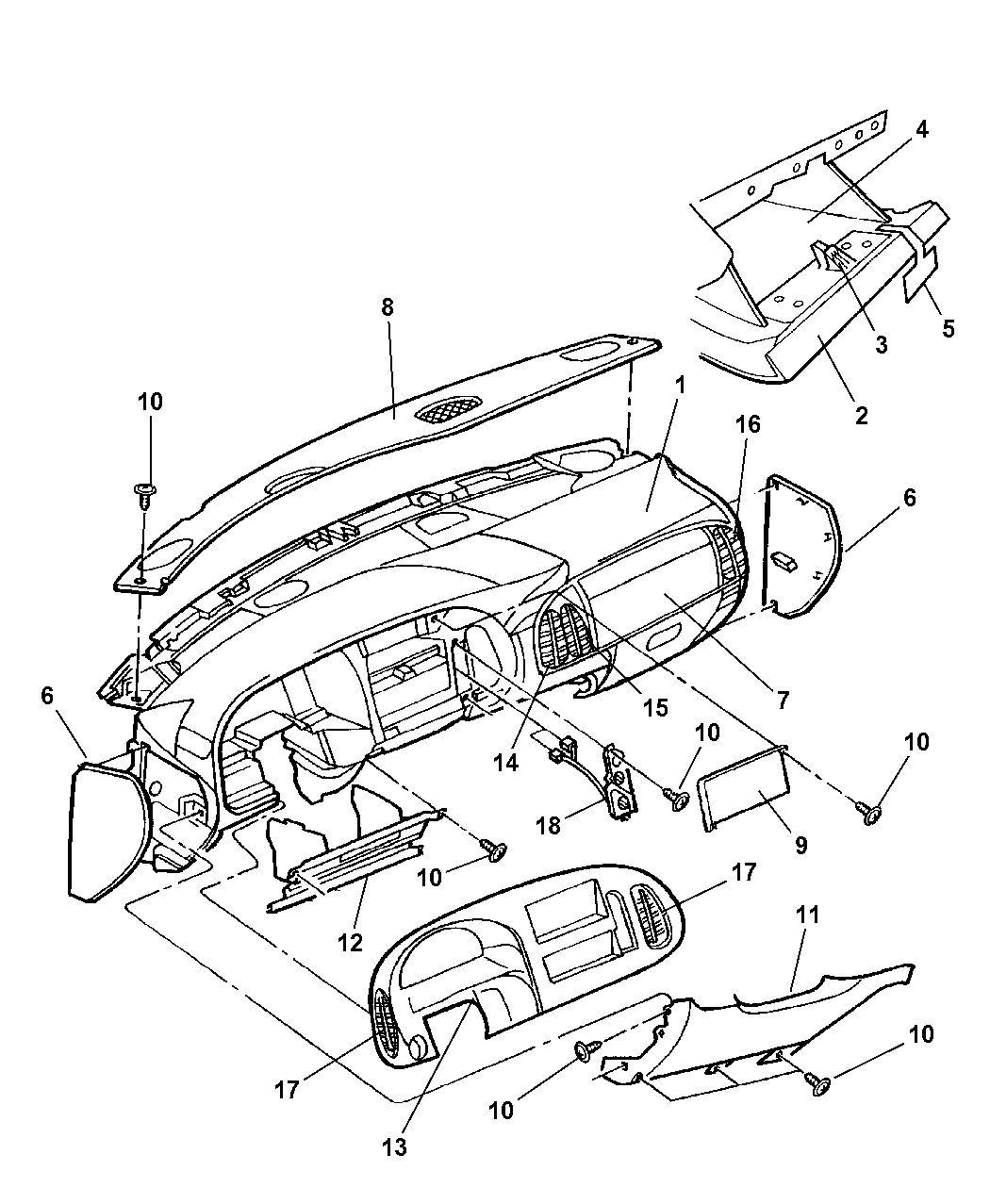 Genuine Dodge CONTROL-A/C AND HEATER