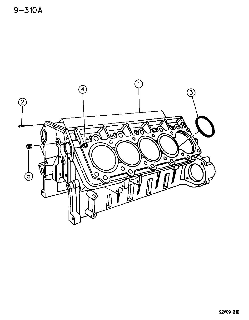 1993 Dodge Viper Cylinder Block