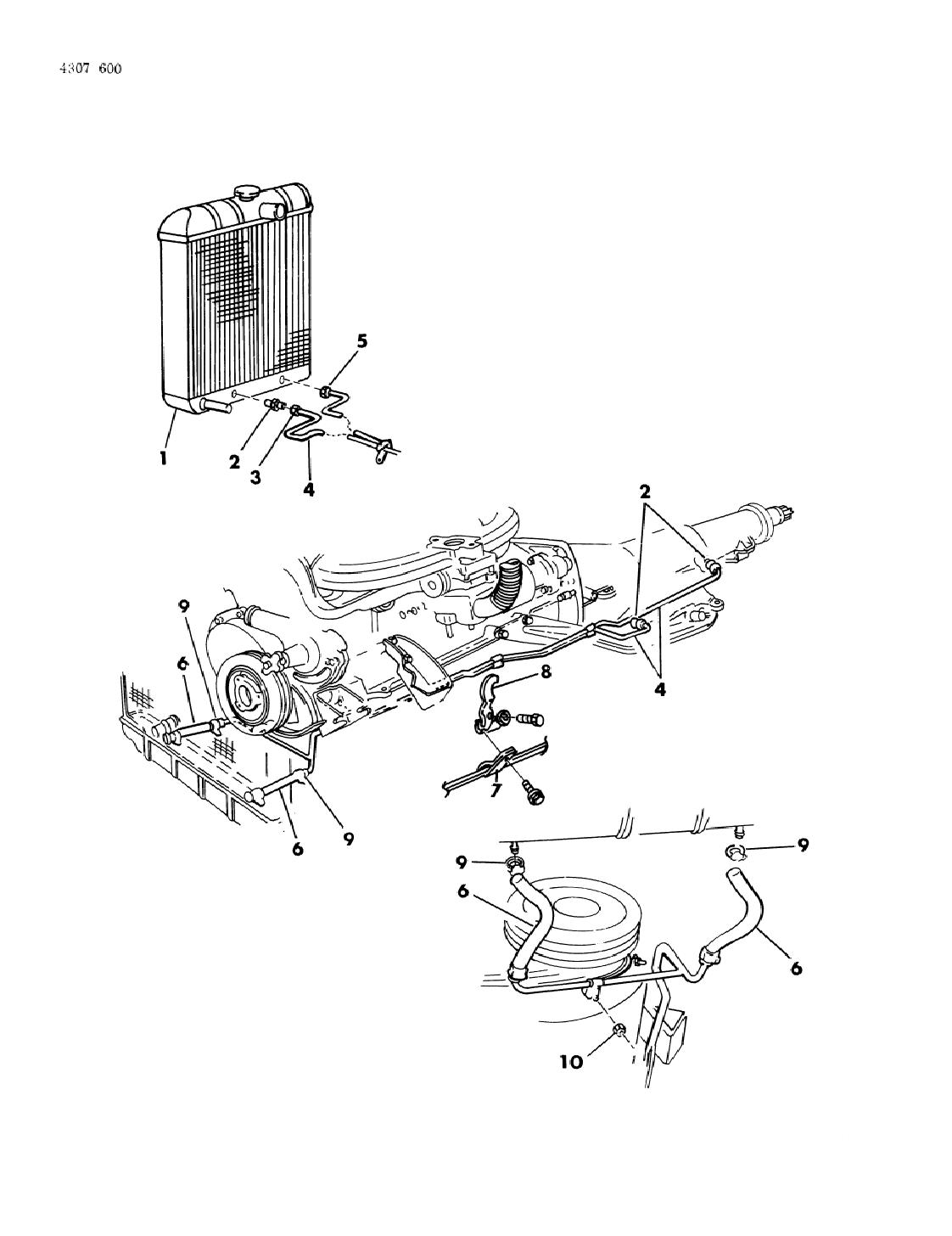 dodge 727 transmission diagram 1985 dodge d150 transmission oil cooler   lines  dodge d150 transmission oil cooler   lines