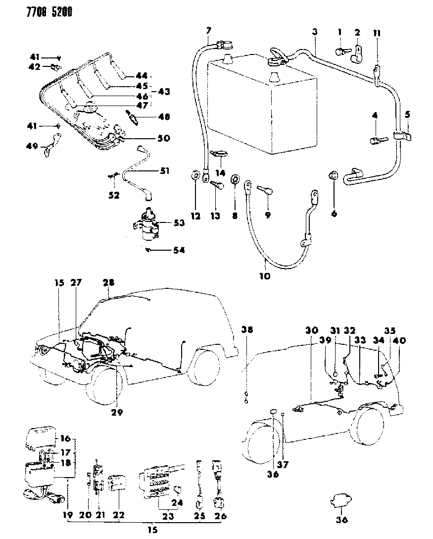 1987 dodge wiring harness diagram