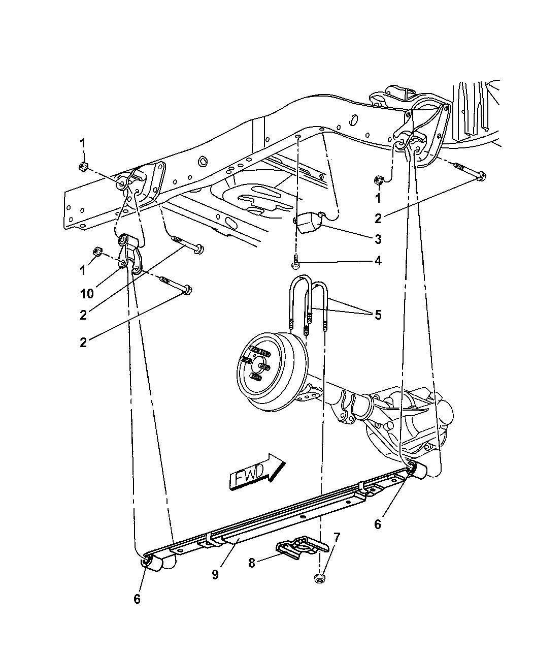 2003 Dodge Dakota Suspension - Rear Leaf Springs